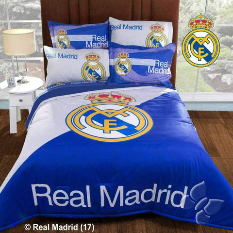 NEW Club Real Madrid Futbol Soccer Comforter w/Shams (Add Sheet Set) Bedding Sets Intima Hogar- LAPG