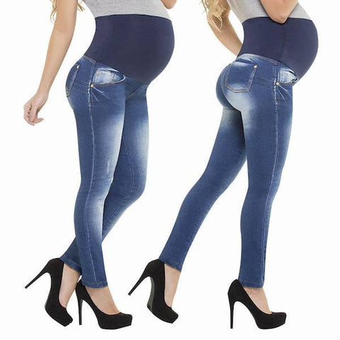 Maternity Colombian Butt Lift Push Up Stretch Slim Shaper Jeans Levanta Cola-Jeans-Virtual Sensuality-1-LAPG