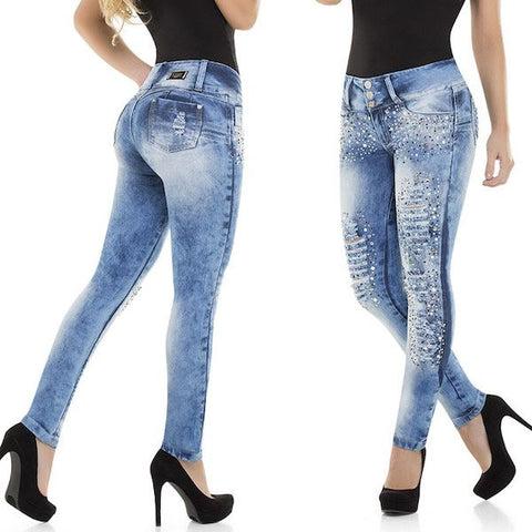 Best Sexy Colombian Butt Lift Push Up Stretch Slim Shaper Jeans Levanta Cola