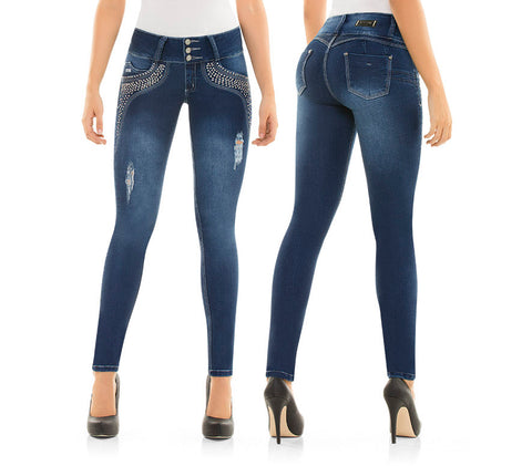 CYSM  Colombian Butt Lift Push Up Stretch Slim Shaper Jeans Levanta Cola | MABEL Jeans Virtual Sensuality- LAPG