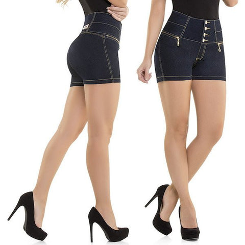 Virtual Sensuality Jeans Colombian Push Up Butt Lifting Shorts, Megan