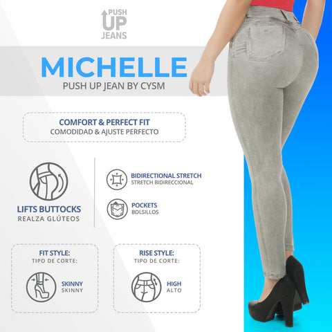 CYSM  Colombian Butt Lift Push Up Jeans Levanta Cola | Michelle Jeans Virtual Sensuality- LAPG