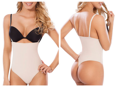 Moldeate 2001 Max Control Body Shaper with Thong Shapewear Shapewear Moldeate- LAPG