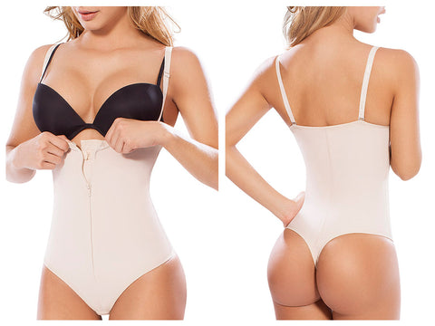 Moldeate 5003 Open Bust Waist Trimmer Body Shaper with Thong Colombian Shapewear Shapewear Moldeate- LAPG