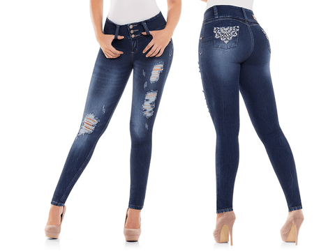 BEST Sexy Colombian Butt LIFT PUSH UP Stretch Slim Shaper Jeans Levanta Cola, NICOLE