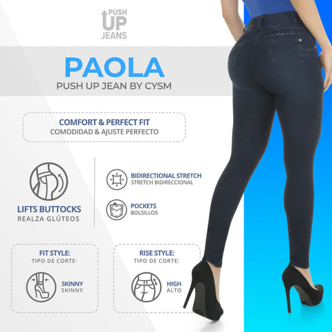 CYSM  Colombian Butt Lift Push Up Jeans Levanta Cola | Paola Jeans Virtual Sensuality- LAPG