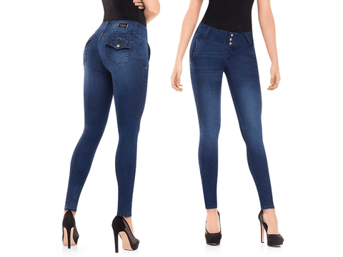 BEST Sexy Colombian Butt LIFT PUSH UP Stretch Slim Shaper Jeans Levanta Cola, SADIE