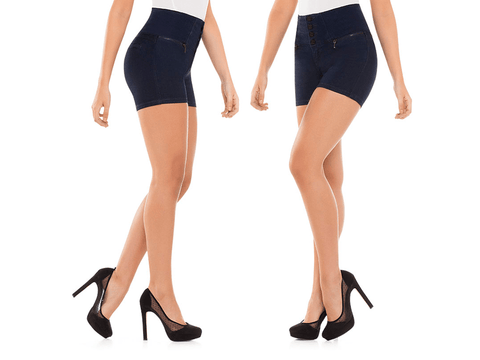 Virtual Sensuality Jeans Colombian Push Up Butt Lifting Shorts, SHALINI