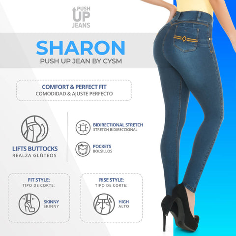 CYSM  Colombian Butt Lift Push Up Jeans Levanta Cola | Sharon Jeans Virtual Sensuality- LAPG