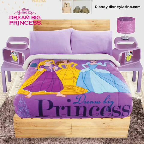 Disney Princess Tangled Rapunzel, Belle, Cinderella Blanket with Sherpa (NO SHEET SET INCLUDED) 2019 Bedding Sets Intima Hogar- LAPG