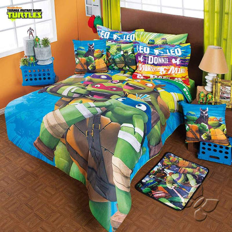 Teenage Mutant Ninja Turtles Comforter Set - Add Sheet Set Bedding Sets Intima Hogar- LAPG