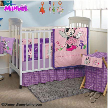 Disney Minnie Mouse Crib & Nursery Set - Baby Girl's Bedroom 2019 Nursery Bedding Sets Intima Hogar- LAPG