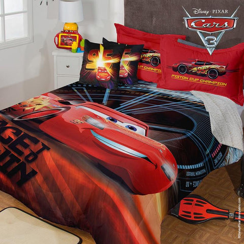 NEW Disney Pixar Cars 3 Comforter w/ Sham & Pillow -Add Sheet Set Bedding Sets Intima Hogar- LAPG
