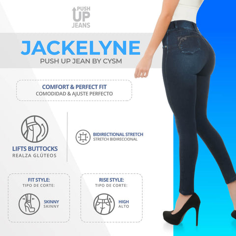 CYSM  Colombian Butt Lift Push Up Jeans Levanta Cola | Jackelyne Jeans Virtual Sensuality- LAPG