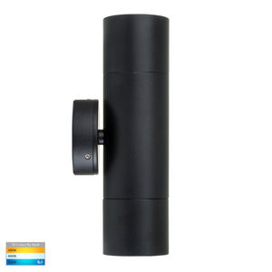 HV1025T-HV1027T - Tivah Black TRI Colour Up & Down Wall Pillar Lights
