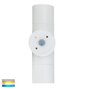 HV1035T-HV1037T - Tivah White TRI Colour Up & Down Wall Pillar Lights