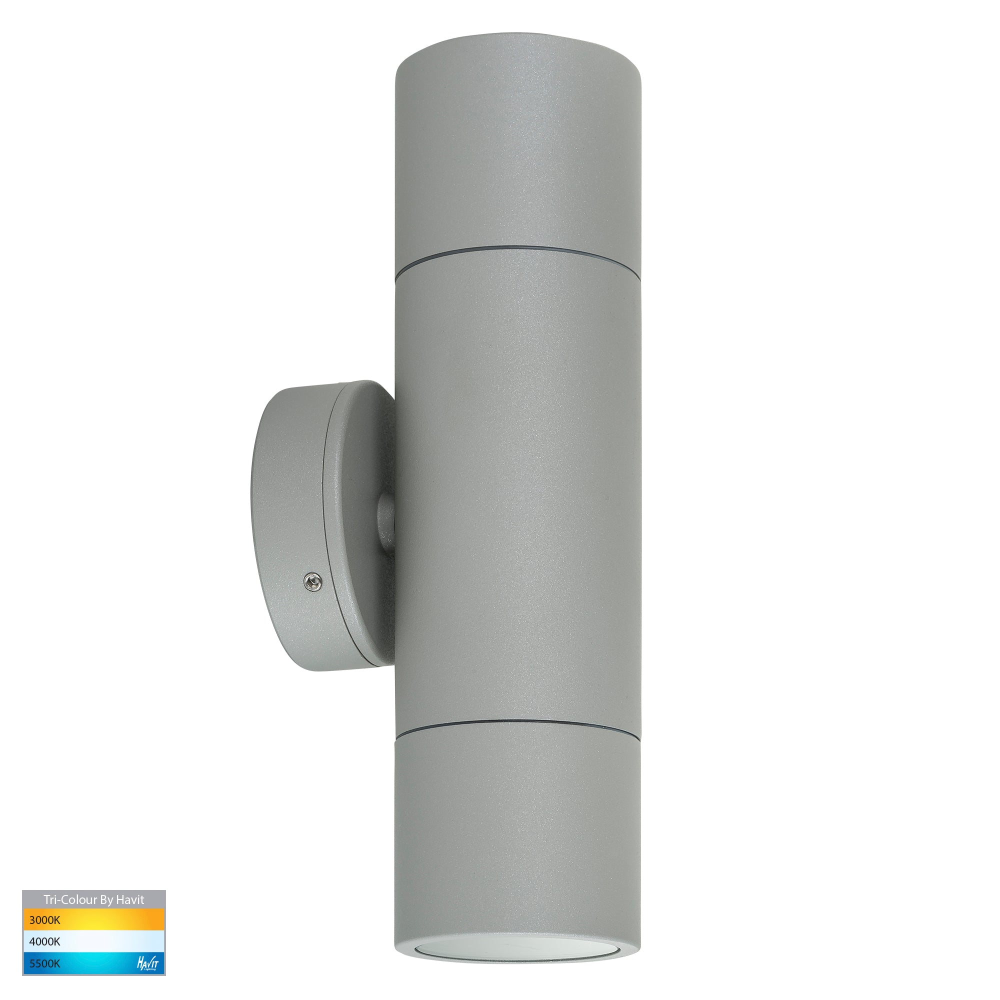 HV1045T-HV1047T - Tivah Silver TRI Colour Up & Down Wall Pillar Lights