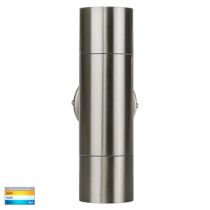 HV1072T  - Fortis Stainless Steel TRI Colour Up & Down Wall Pillar Lights