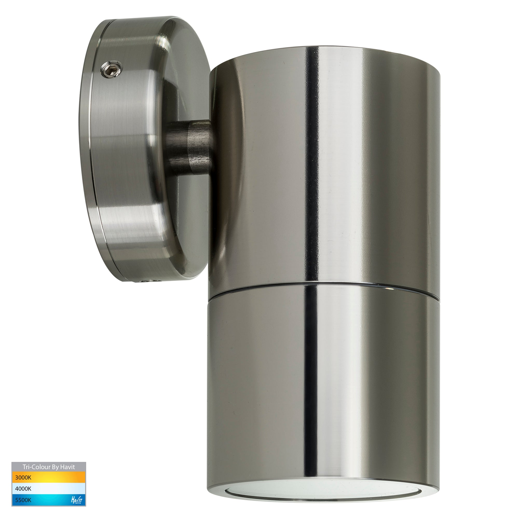 HV1105T-HV1107T - Tivah 316 Stainless Steel TRI Colour Fixed Down Wall Pillar Lights