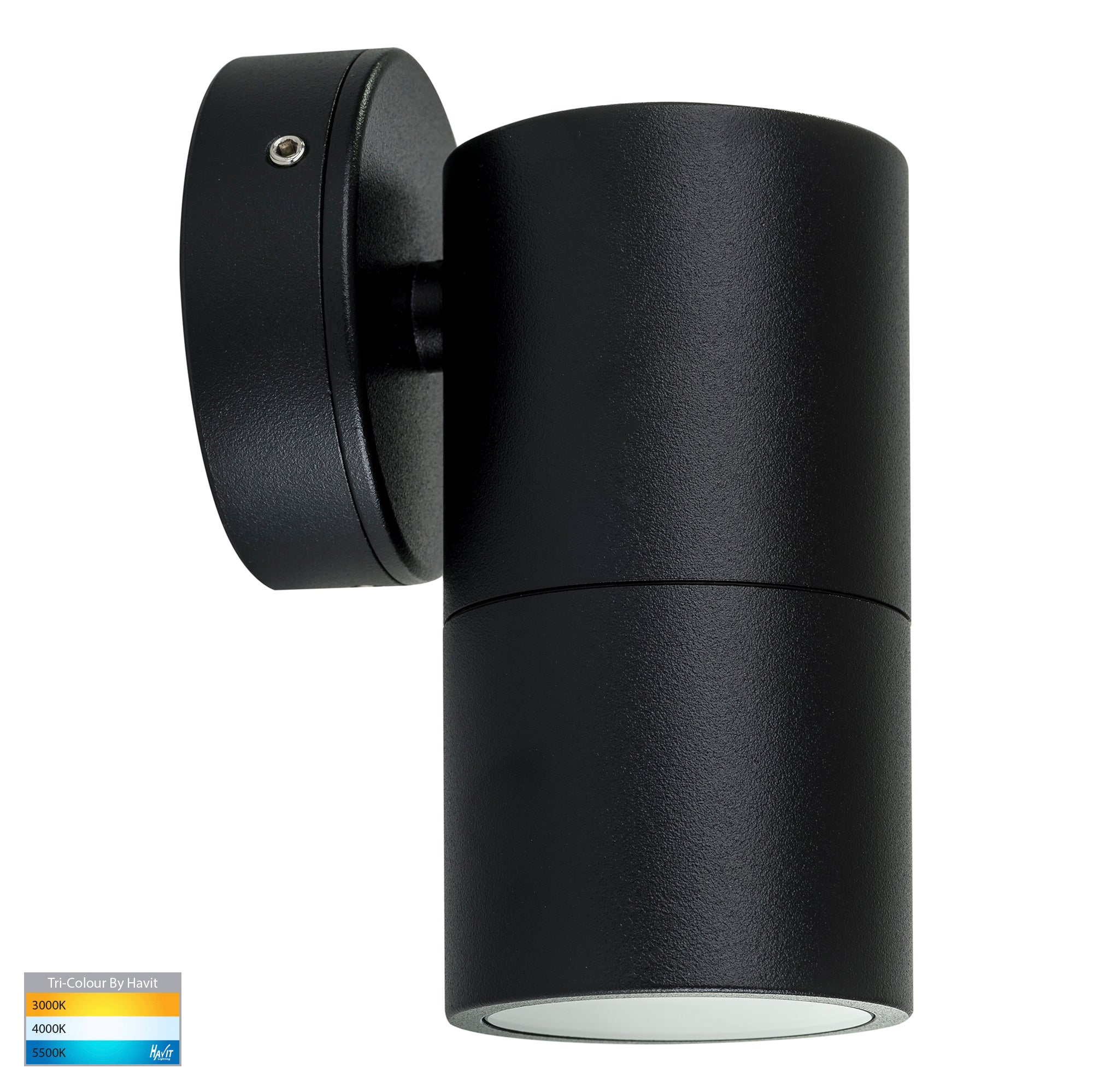 HV1125T-HV1127T - Tivah Black TRI Colour Fixed Down Wall Pillar Lights