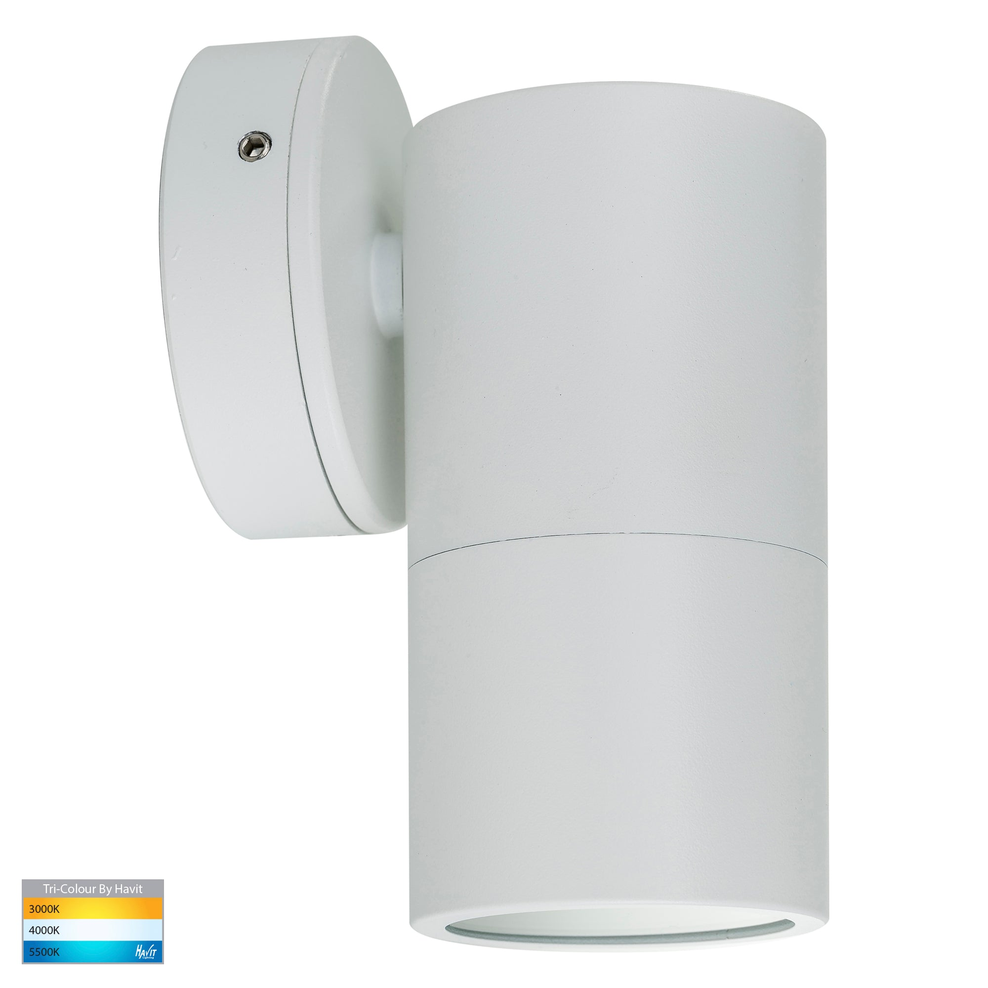HV1135T-HV1137T - Tivah White TRI Colour Fixed Down Wall Pillar Lights