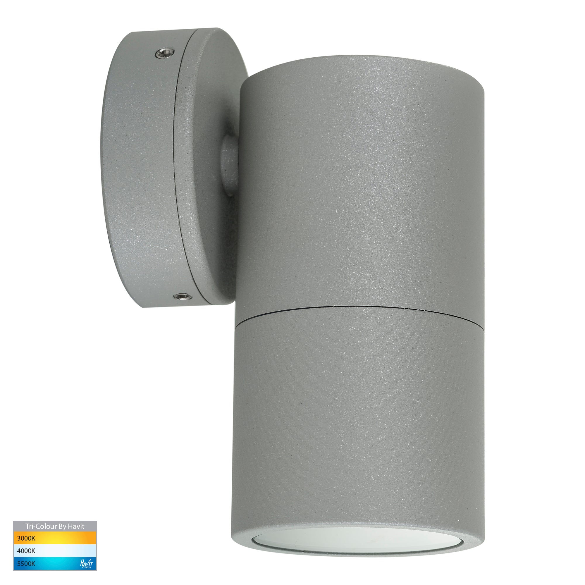 HV1145T-HV1147T - Tivah Silver TRI Colour Fixed Down Wall Pillar Lights