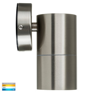 HV1172T - Fortis Stainless Steel TRI Colour Fixed Down LED Wall Pillar Light