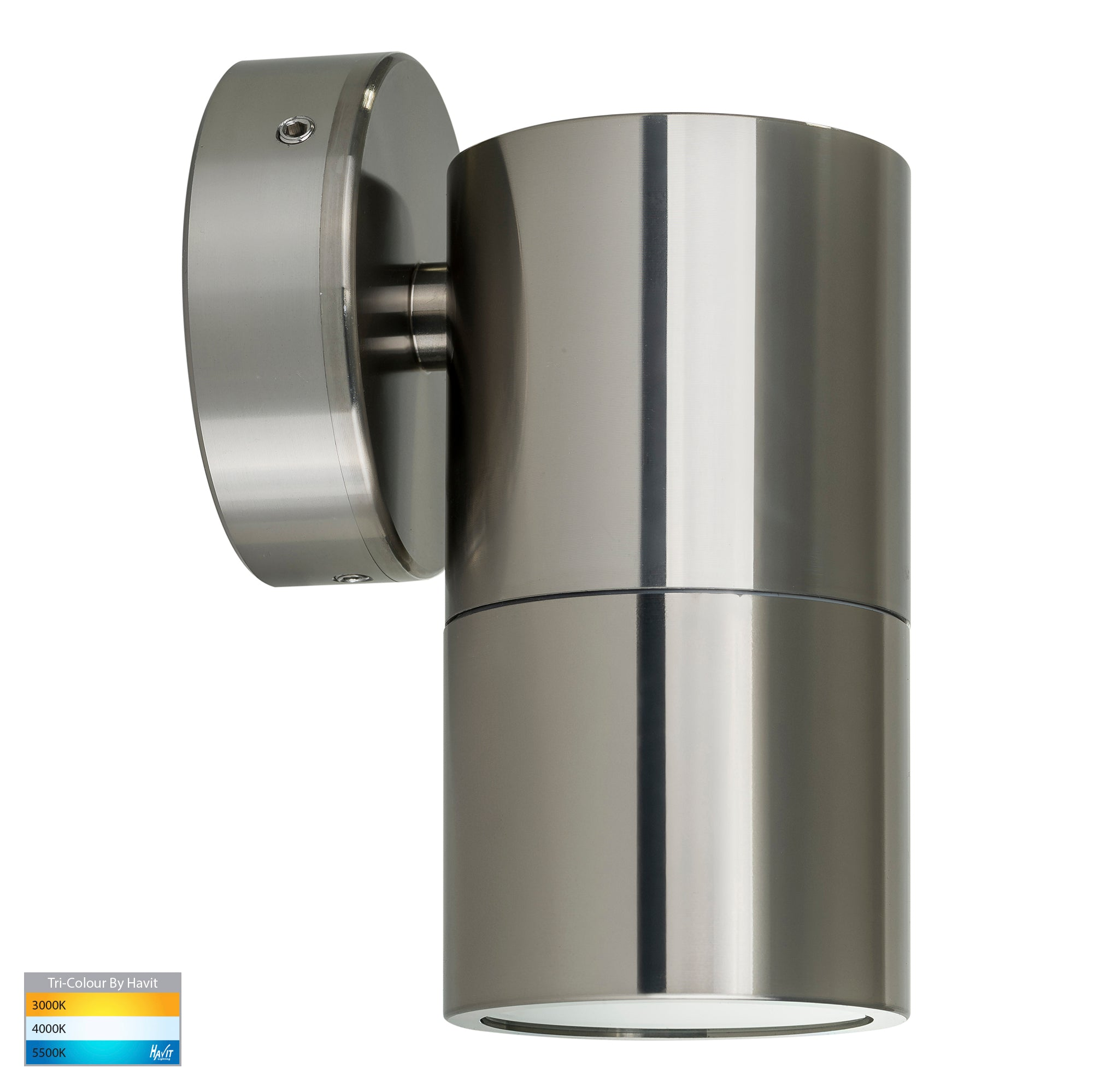 HV1185T-HV1187T - Tivah Titanium Aluminum TRI Colour Fixed Down Wall Pillar Lights