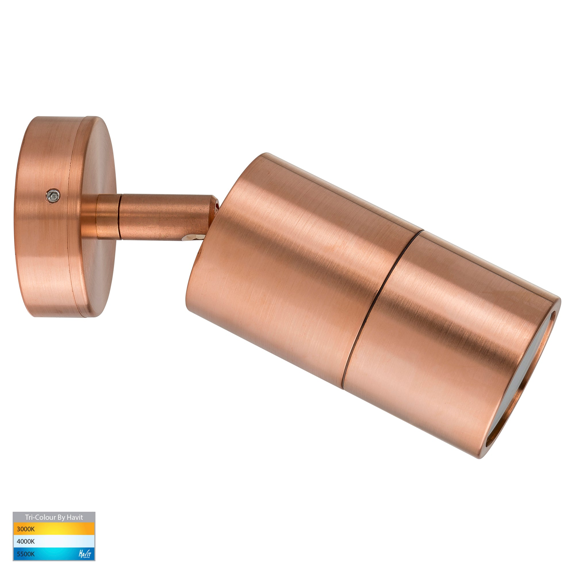 HV1215T-HV1217T - Tivah Solid Copper TRI Colour Single Adjustable Wall Pillar Lights