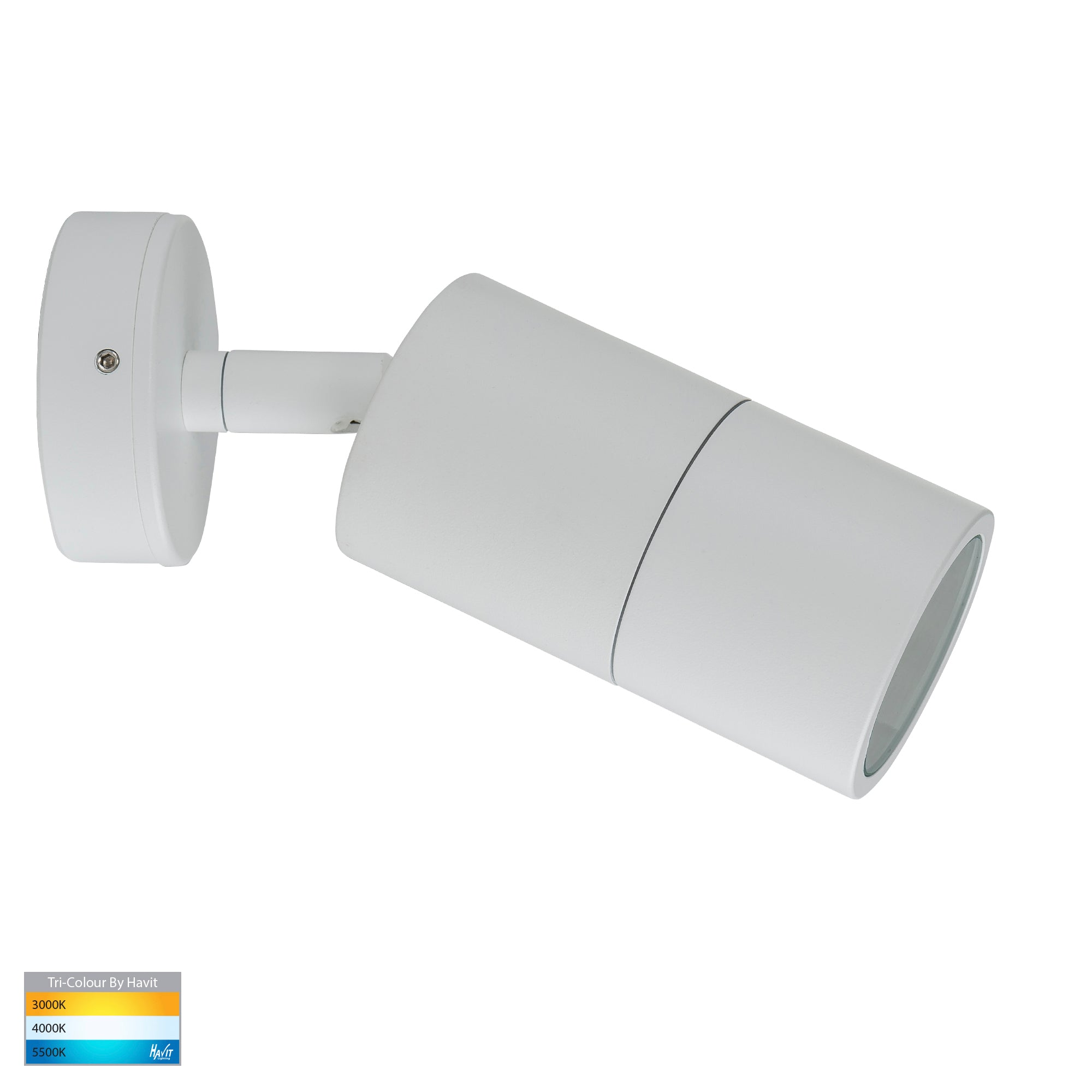 HV1235T-HV1237T - Tivah White TRI Colour Single Adjustable Wall Pillar Lights