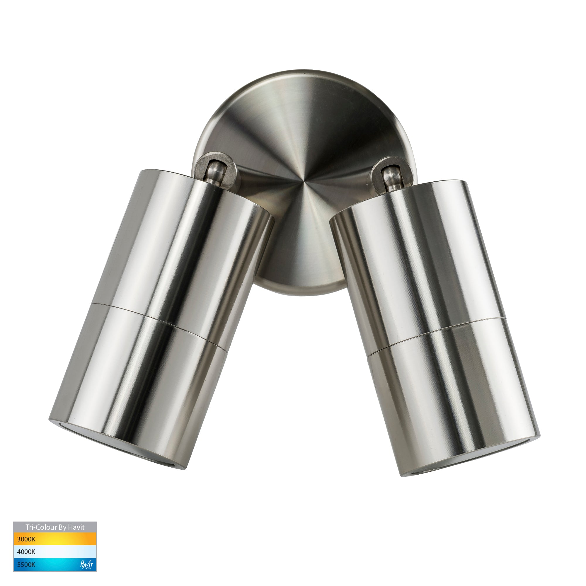 HV1305T-HV1307T - Tivah 316 Stainless Steel TRI Colour Double Adjustable Wall Pillar Lights