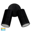HV1325T-HV1327T - Tivah Black TRI Colour Double Adjustable Wall Pillar Lights