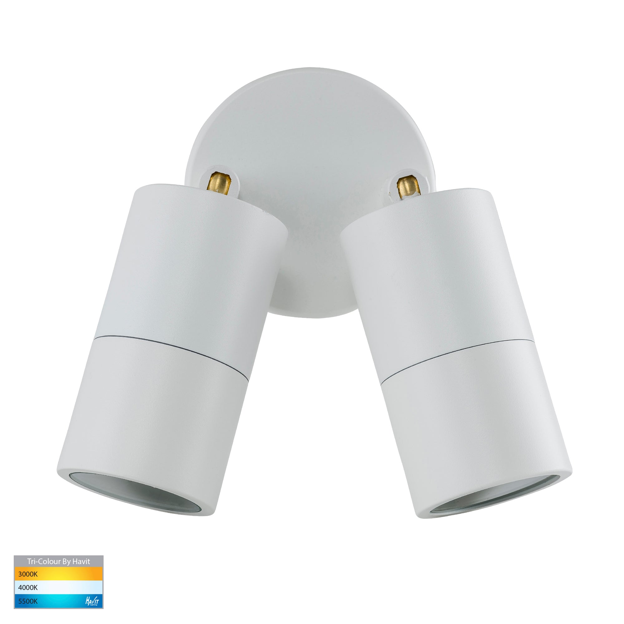 HV1335T-HV1337T - Tivah White TRI Colour Double Adjustable Wall Pillar Lights
