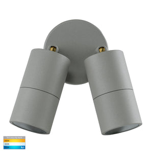HV1345T-HV1347T - Tivah Silver TRI Colour Double Adjustable Wall Pillar Lights