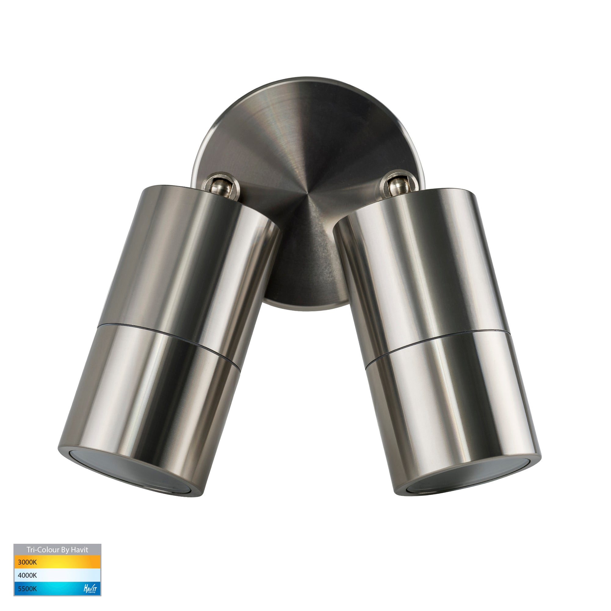 HV1385T-HV1387T - Tivah Titanium Aluminium TRI Colour Double Adjustable Wall Pillar Lights