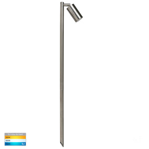 HV1403T-SS316 - Tivah 316 Stainless Steel TRI Colour Single Adjustable LED Bollard Spike Light