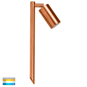 HV1413T - Tivah Solid Copper LED Garden Spike Light