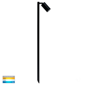 HV1423T - Tivah Black TRI Colour Single Adjustable LED Bollard Spike Light