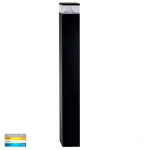 HV1629T-BLK-SQ - Divad 1000mm Black LED Bollard Light
