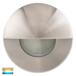 HV19012T-SS316 - HV19032T-SS316 - Ollo 316 Stainless Steel TRI Colour LED Step Light With Eyelid