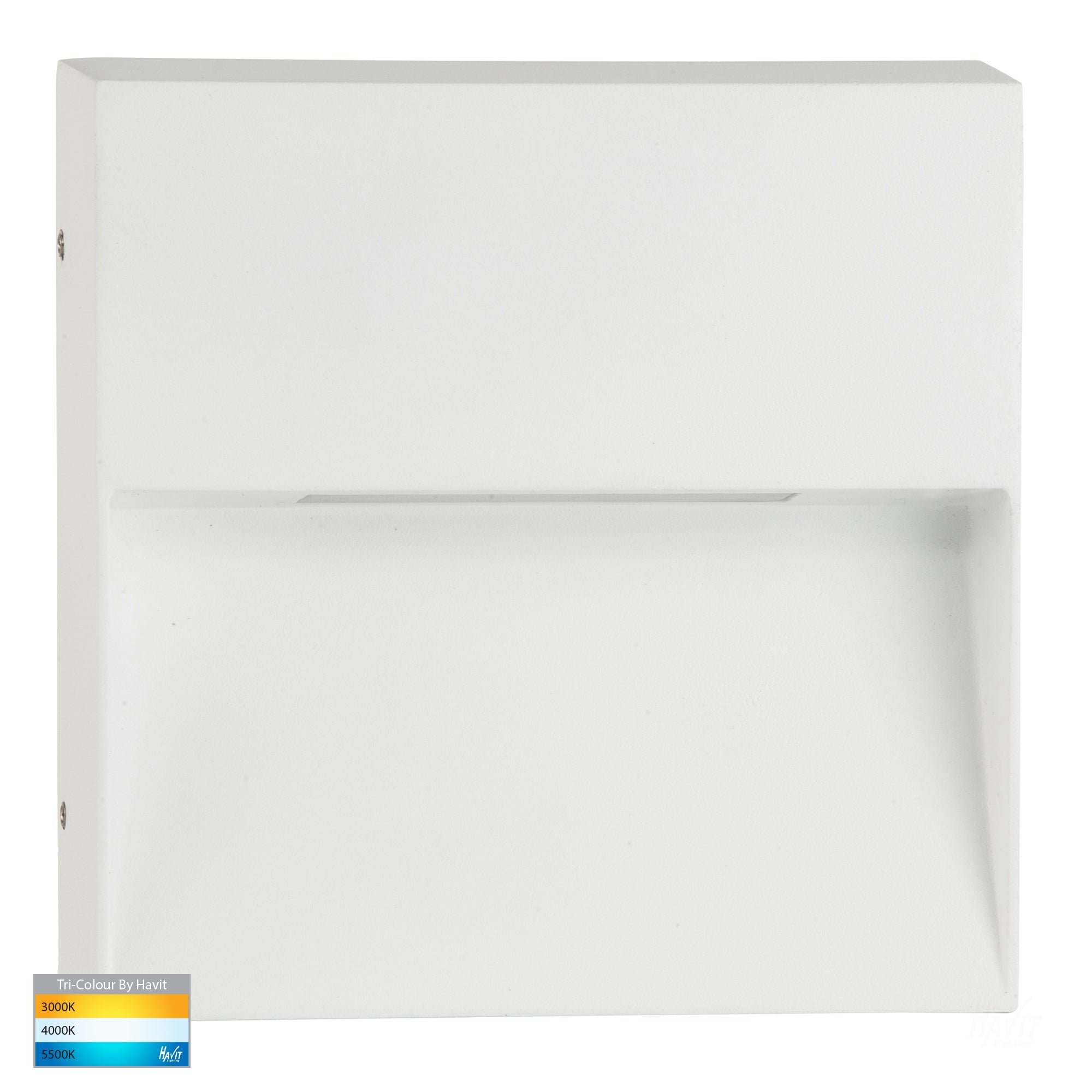 HV3276T-WHT - Virsma White Square LED Step lights