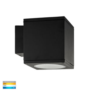 HV3628T-BLK-SQ - Porter 15w LED Black Large Fixed Wall Light