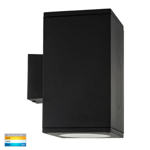 HV3629T-BLK-SQ -  Porter Square Black Large Up & Down LED Wall Light