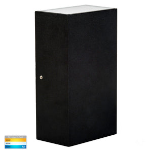 HV3634T-BLK - Platz Black Up & Down LED Wall Light