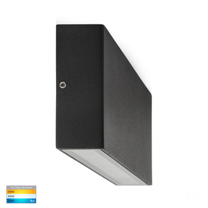 HV3647T-BLK - Essil Black Fixed Down LED Wall Light
