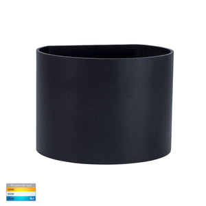 HV3658T-BLK-RND - Versa Black Round Up & Down Wall Light