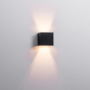 HV3658T-BLK-SQ - Versa Black Square Up & Down Wall Light