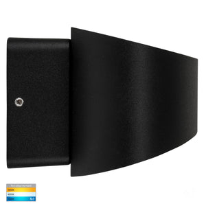 HV3661T-BLK - Luxe Black TRI Colour Up & Down LED Wall Light
