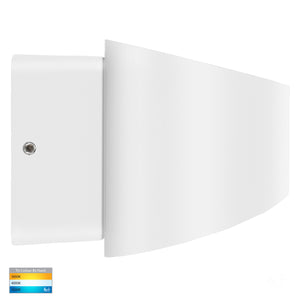 HV3661T-WHT - Luxe White TRI Colour Up & Down LED Wall Light