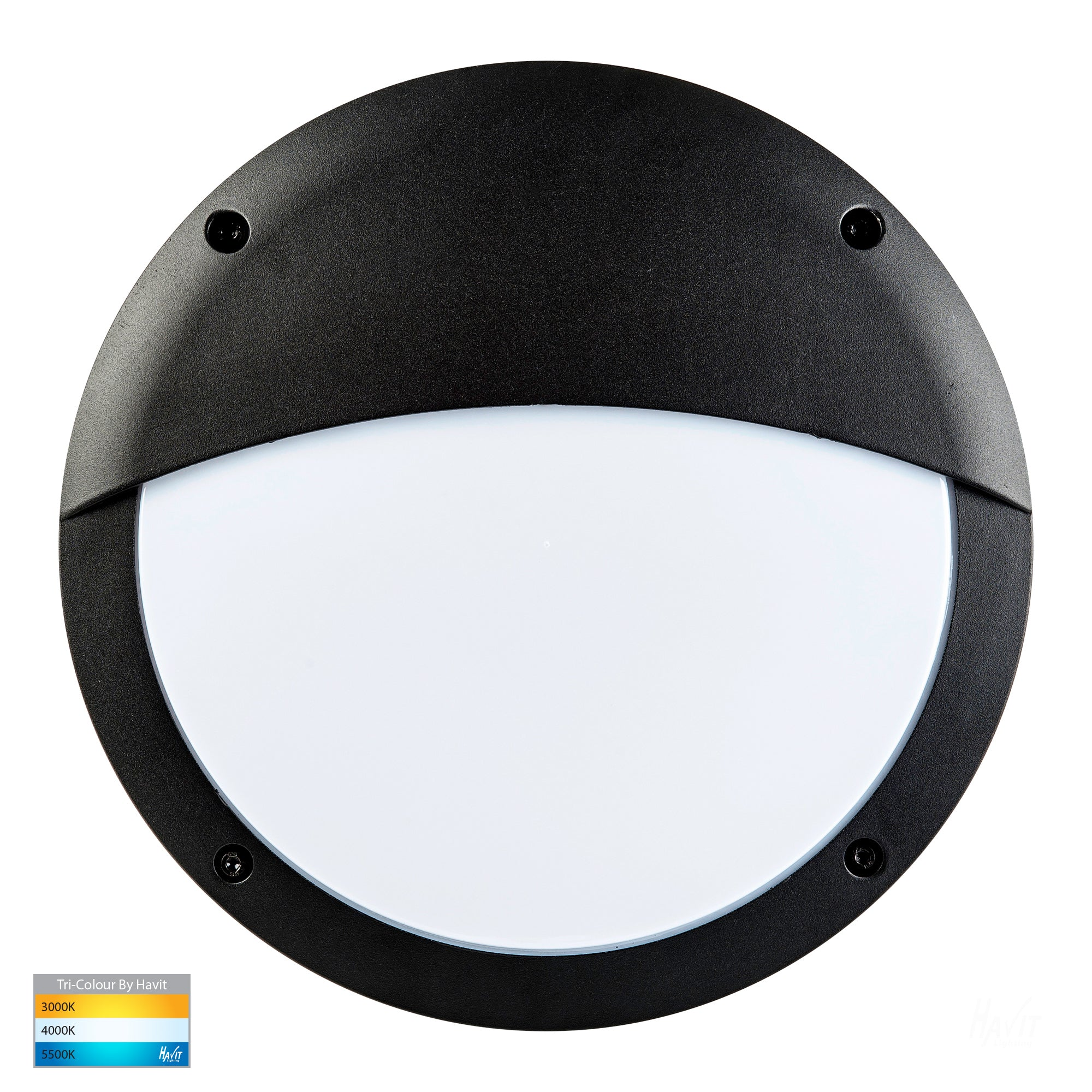 HV3671T-BLK - Stor Black LED Bunker Light with Eyelid